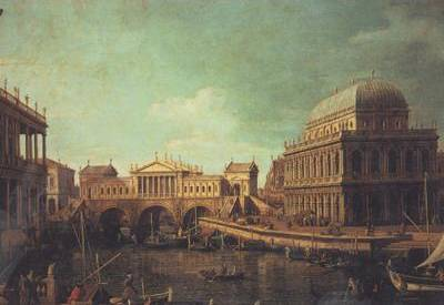 Basilica di Vecenza and the Ponte de Rialto - Canaletto