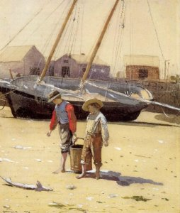 Basket of Clams - Winslow Homer