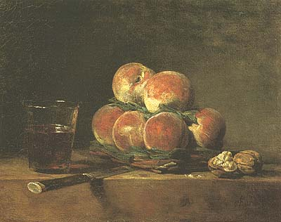 Basket of Peaches - Jean Baptiste Simeon Chardin