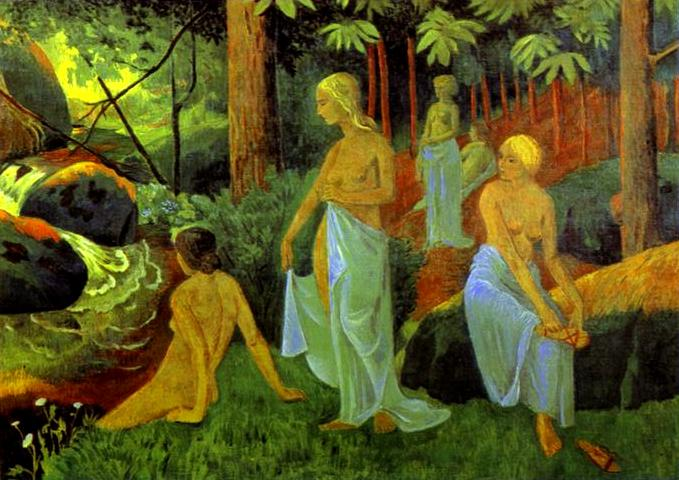 Bathers with White Veils - Paul Serusier