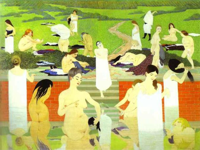 Bathing on a Summer Evening - Felix Vallotton