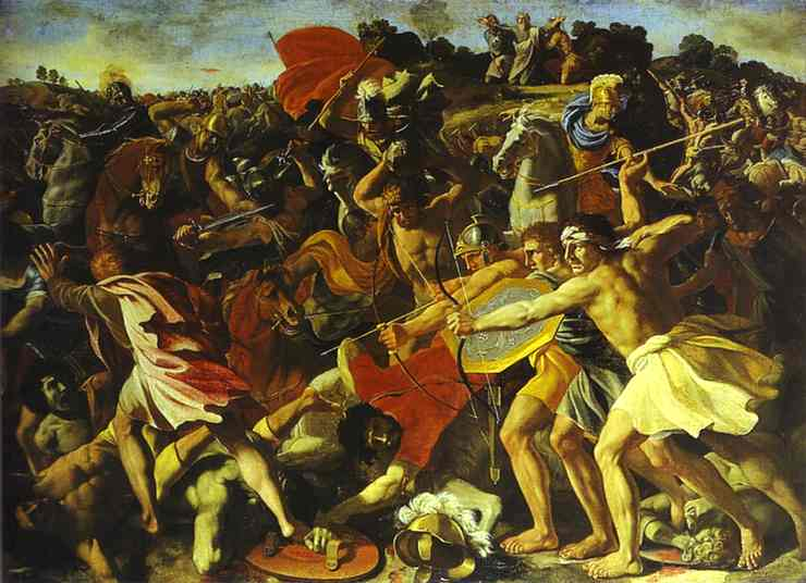 Battle of Joshua with Amalekites - Nicolas Poussin
