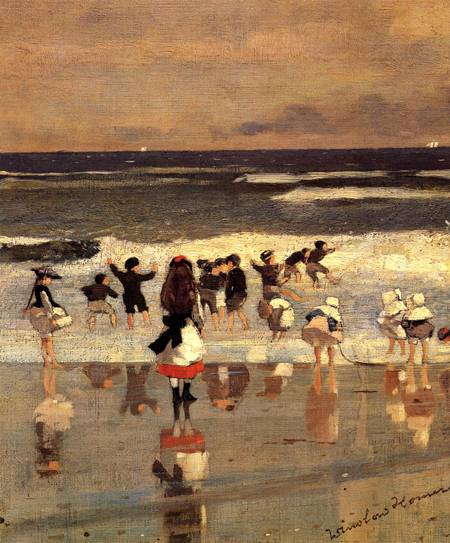 Beach Scene (Children in the Surf) - Winslow Homer