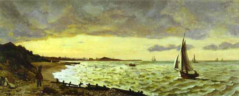 Beach at Sainte Adresse - Frederic Bazille