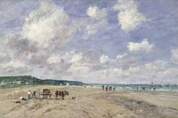 Beach at Tourgeville 1893 - Eugene Boudin