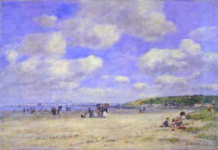 Beach at Tourgeville les Sablons - Eugene Boudin