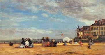 Beach at Trouville - Eugene Boudin