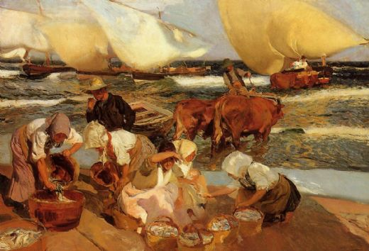 Beach at Valencia - Joaquin Sorolla