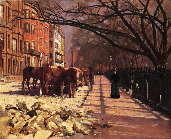 Beacon Street, Boston - Theodore Robinson