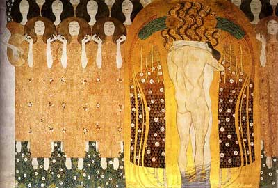 Beethoven Frieze Praise to Joy, the God Descended - Gustav Klimt