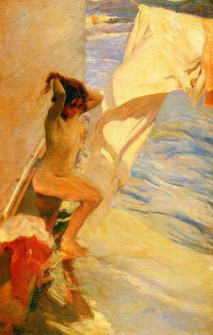 Before Bathing - Joaquin Sorolla
