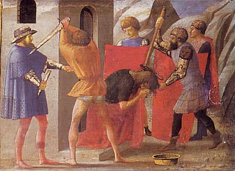 Beheading of St. John the Baptist - Masaccio