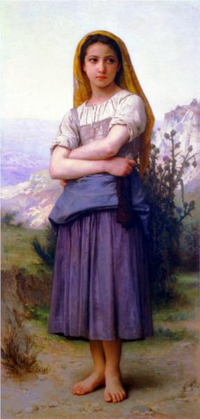 Bergere - William Adolphe Bouguereau
