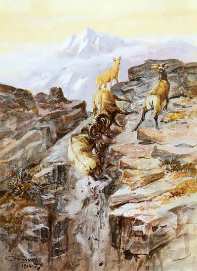 Big Horn Sheep - Charles Marion Russell