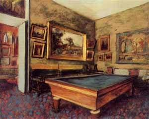 Billiard Room at Menil-Hubert - Edgar Degas
