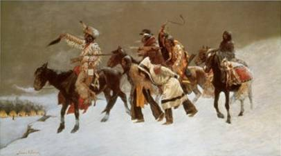 Blackfoot War Party - Frederic Remington