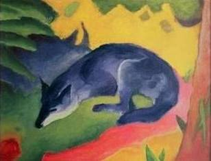 Blue Fox - Franz Marc