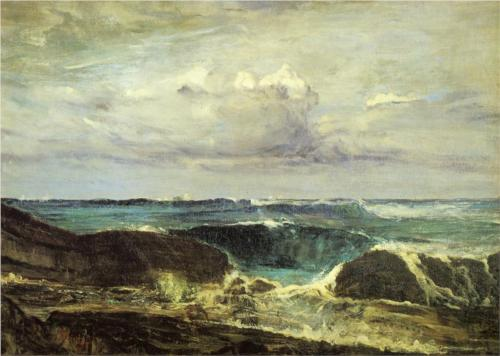 Blue Wave at Biarritz - James McNeill Whistler