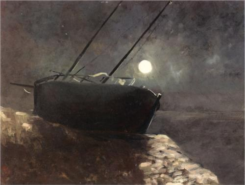 Boat in the Moonlight - Odilon Redon