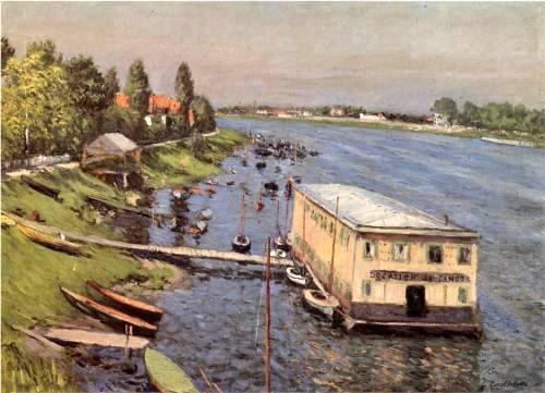 Boathouse in Argenteuil - Gustave Caillebotte