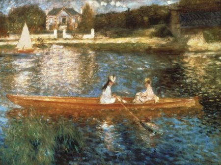 Boating on the Seine - Pierre Auguste Renoir