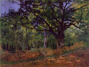 Bodmer Oak at the Fontainebleau Forest - Claude Monet