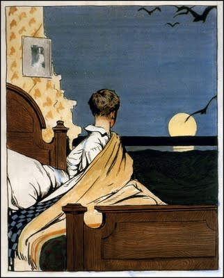 Boy and Moon - Edward Hopper