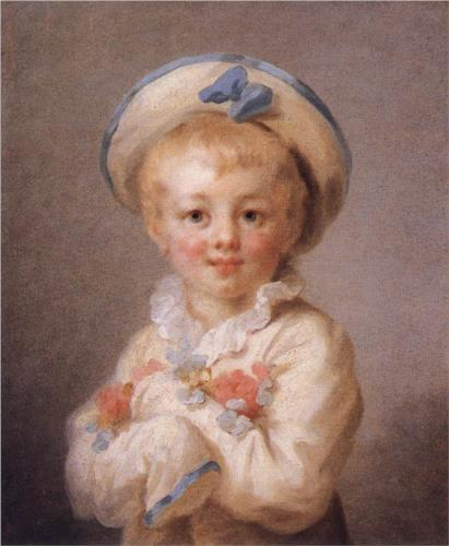 Boy as Pierrot - Jean Honore Fragonard