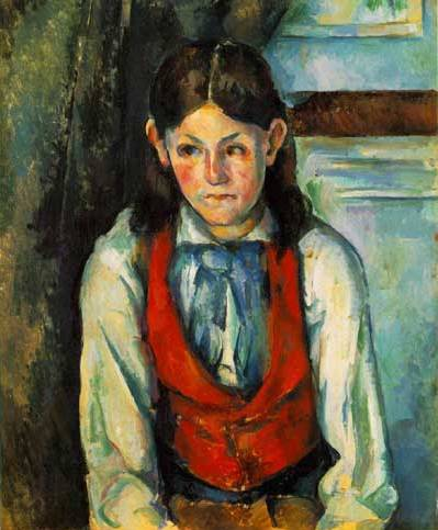 Boy in Red Vest - Paul Cezanne