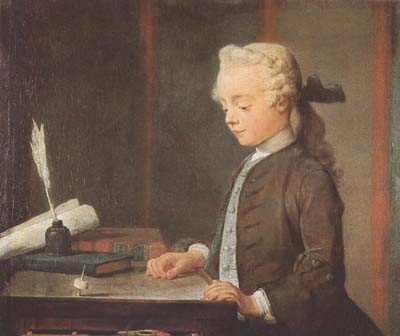 Boy with Spinning Top - Jean Baptiste Simeon Chardin