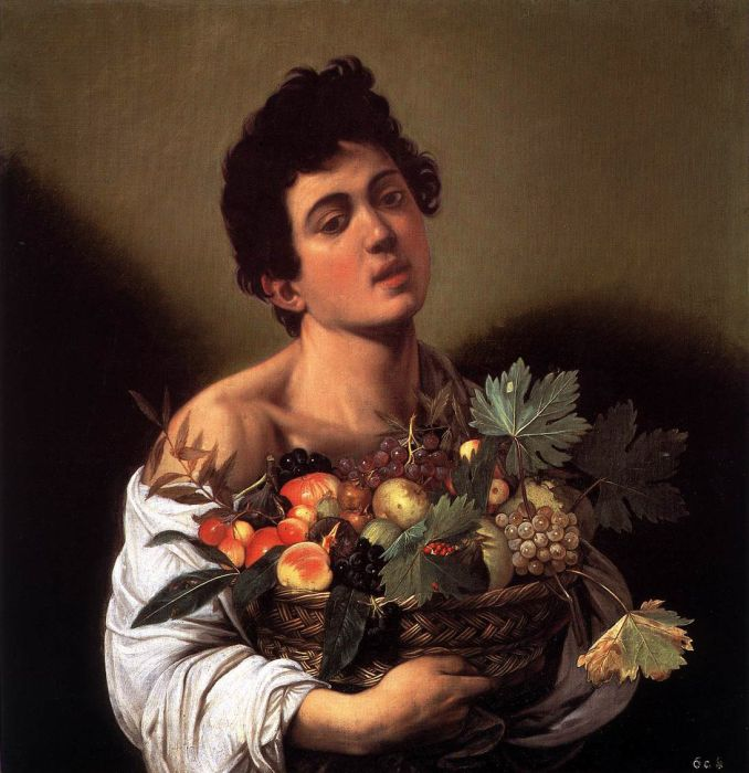 Boy with a Basket of Fruit - Michelangelo Merisi da Caravaggio