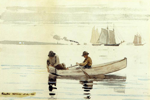 Boys Fishing, Gloucester Harbor - Winslow Homer