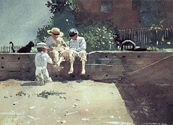 Boys and Kitten - Winslow Homer