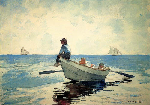 Boys in a Dory - Winslow Homer