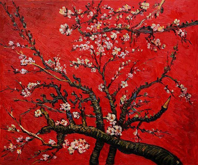 Branch of Almond Tree in Blossom Red - Vincent Van Gogh