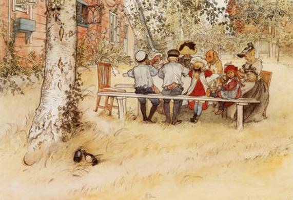 Breakfast Under the Big Birch - Carl Larsson