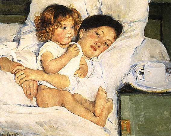 Breakfast in Bed - Mary Cassatt