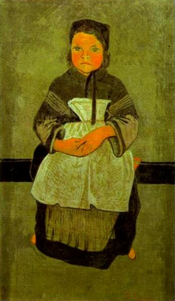 Breton Girl Seated (Portrait of Marie Francisaille) - Paul Serusier