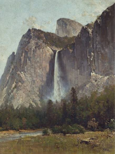 Bridal Veil Falls Yosemite Valley - Thomas Hill