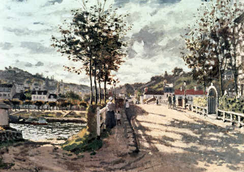 Bridge at Bougival - Claude Monet