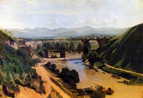 Bridge at Narni - Jean Baptiste Camille Corot