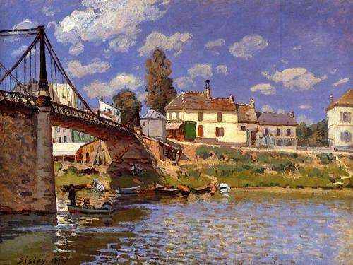 Bridge at Villeneuve la Garenne - Alfred Sisley