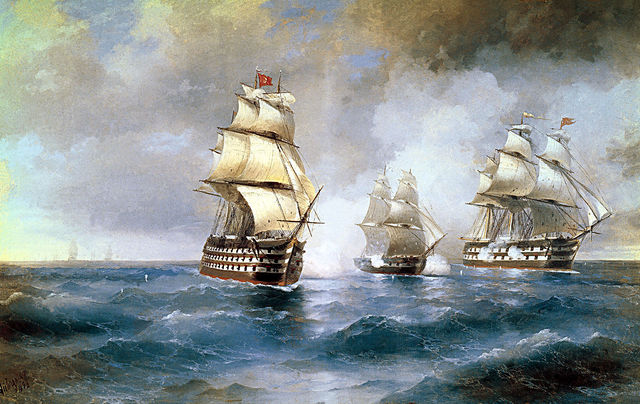 "Brig ""Mercury"" Attacked by Two Turkish Ships - Ivan Aivazovsky"