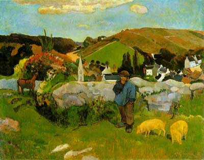 Brittany Swineherd - Paul Gauguin