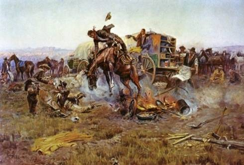 Bronc to Breakfast - Charles Marion Russell