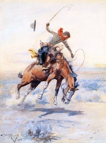 The Bucker - Charles Marion Russell