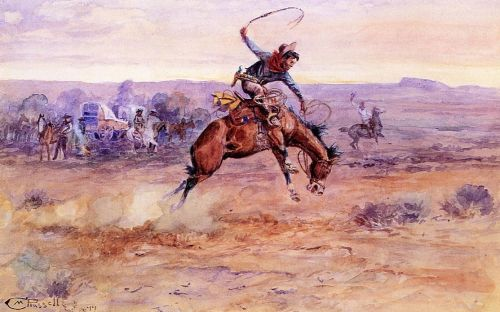 Bucking Bronco - Charles Marion Russell