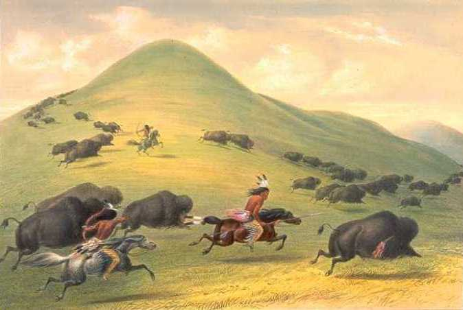 Buffalo Chase - George Catlin