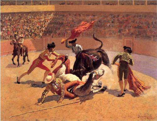 Bullfight in Mexico - Frederic Remington