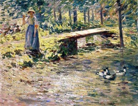 By the Brook - Theodore Robinson